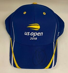 Novak Djokovic Signed 2018 US Open Hat Cap Autographed 2016 Champion JSA Tennis