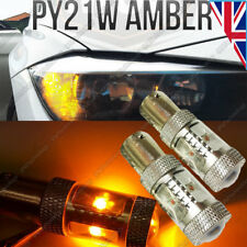 2x PY21W Amber Orange CREE LED Canbus Bulbs Indicator Signal Front Rear BAU15S
