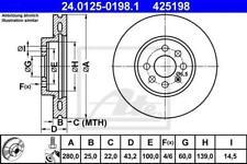 1X BRAKE DISC ATE - TEVES 24.0125-0198.1