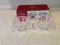 Cristal D'arques Paris Crystal Holders 24% Genuine Made In France