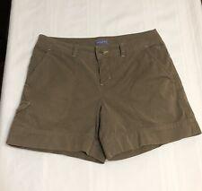 Ladies 8 Ibex Shorts Organic Cotton Khaki - Brownish Green Vintage Side Pocket