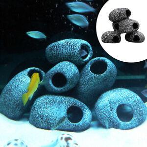 Natural Aquarium Cave Decorations, Fish Tank Betta Hiding Stone Accessories,