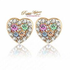 Love Heart beautiful stud earrings for gold plated Earring Jewelry Gift
