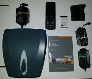 TalkSwitch TS-850i VOIP Base Unit w Power Supply + Phone w Charger Extra Battery