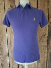 Mens Ralph Lauren Polo Shirt Custom Fit Small Purple 38 Inch Chest