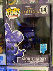 FUNKO POP!!! Sorcerer Mickey #14 Painted Art Series - New - Disney Fantasia