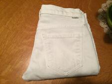 MOTHERS RUNAWAY CUFFED CAPRI WHITE STRETCH JEANS 25 X 24 VERY NICE!