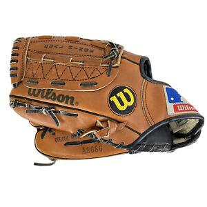 Wilson Baseball Glove A2686 Left Handed Double Hinge Leather Grip Tite Pocket
