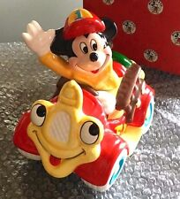 Enesco Disney Mickey Mouse Ceramic Fire Truck Music Box Caissons Keep Rolling