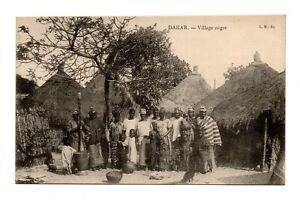 DAKAR, SENEGAL, AFRICA, VILLAGE WOMEN & CHILDREN POSE NEAR THEIR HOMES 1907-20