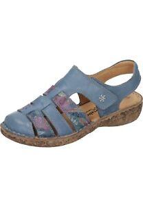 Comfortabel Damenschuhe Leder Sandalen Sandaletten 720147-5 blau 35-43 Neu10