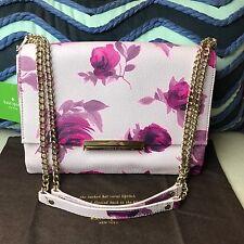 NEW Kate Spade New York  Emerson Place Plum Dawn Roses Lenia Shoulder Bag $398