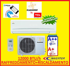 CLIMATIZZATORE INVERTER 12000BTU POMPA DI CALORE NO 9000 CLIMAGROUP BY TCL A++A+