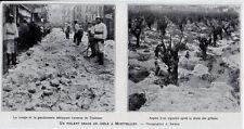 1922  --  UN VIOLENT ORAGE DE GRELE A MONTPELLIER  3K681