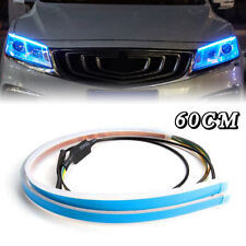 Pair 60CM LED Headlight Slim Strip Light Daytime Running Sequential Flow Lamp