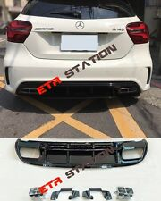 A45 Style Rear Bumper Diffuser Kit For Mercedes A Class W176 AMG