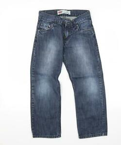 Levi's Womens Blue  Denim Straight Jeans Size 8 L22 in
