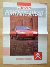 Citroen gamme 1987 uk marketing grand format sales brochure-visa 2CV6 bx cx gti