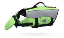 Dog Bouyancy Aid / Life Jacket / Float - Extra Reflective Green - Small