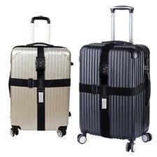Schwarz TSA Schloß Kofferband Kreuz Gepäckgurt Reise Luggage Straps