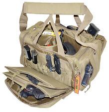 **New** Large Heavy Duty Padded Range Bag Pistol Hand Gun Hunting TAN Color