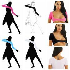 Para Mujeres Disfraz de danza del vientre Corto/Mangas Largas Camisa Top Corto Malla Transparente Blusas
