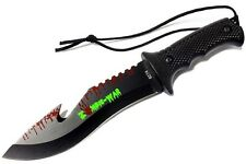 Outdoor Hunting Camping Survival Tactical Sharp Full Tang Sawback Bowie Knife