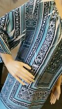 BNWT RPP $179.95 Size 16 - 18 SEVEN SISTERS  Dress Tunic AQUA 118cm bust TOP