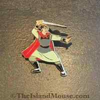 Rare Disney LE 500 DisneyShopping.com Mulan Heroes Shang Sword Pin (UF:60126)
