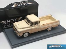 Dodge D100 Sweptside Pick-Up 1959 White/Beige NEO 44840 1:43