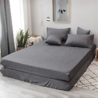 Extra Deep Fitted Sheet Bed Sheets 100% Poly Cotton for Bedroom