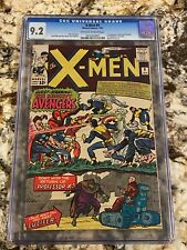 X-MEN #9 CGC 9.2 OW-WH PAGES SUPER HIGH END HUGE KEY 1ST X-MEN VS AVENGERS MCU