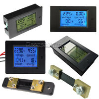 DC 6.5~100V AC 80~260V 20-50-100A LCD Digital Display Volt Amp Power Watt Meter
