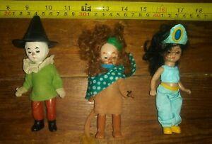 3 mini McDonald's Madame Alexander mini dolls scarecrow genie lion lot