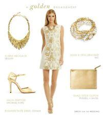 Osman Wool Blend brocade Dress White