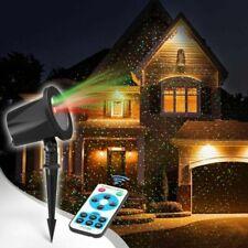 Christmas Xmas Holiday Laser Lights Projector Outdoor  Remote Control Waterproof