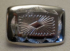 Gürtelschnalle VERZIERT f. 3cm breite Gürtel FARBE: Silber MASSIV Metall NEU Top