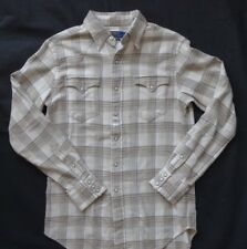 Polo Ralph Lauren Classic Fit Plaid Western Shirt Natural/Tan T S