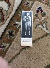 Q1-a-a Ephemera 1940 Picture Usa Football Stanley Iverson Kiester Minn