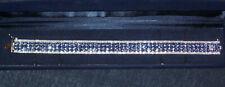 Harry Ivens hochwertiges Armband Silber 925 mit 150 x Tansanit Länge 21 cm
