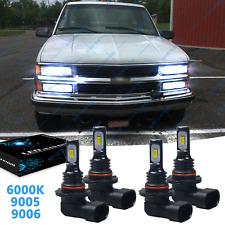 For Chevy Ck Pickup Silverado Suburban Tahoe 1994 1998 4x Led Headlights Bulb