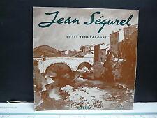 """JEAN SEGUREL et ses troubadours Chant: ANDRE VAR 25 cms 10"""" OS 1169"""