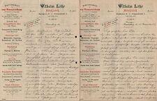 DRESDEN, Brief 1899, Möbel-Fabrik Wilhelm Löhr