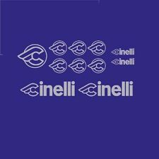 Cinelli Bicycle Decals, Transfers, Stickers - Silver - n.11