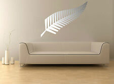 Silver Fern Kiwi Zealand Symbol Wall Sticker Removable Decal Mural Tattoo