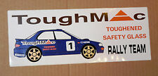 Bertie Fisher Toughmac Subaru Impreza Rally Team Motorsport Sticker Decal