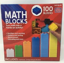 Mega Bloks Math Blocks 100 Block Set With 10 Page Activity Booklet