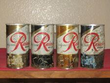 4 different Zip top Rainier Jubilee Beer cans Sicks' Rainier Brewing