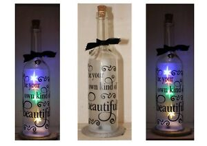 Be your own kind of Beautiful, bottle sticker, sticker ONLY for light up bottle