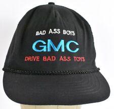 Black Bad Ass Boys GMC Embroidered Baseball hat cap Adjustable Zipper